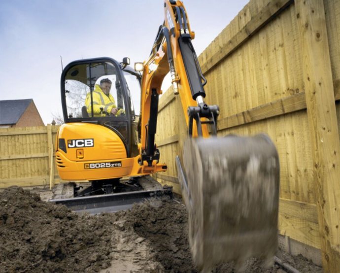 JCB 8025 mini excavator